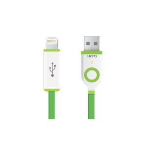 Hippo Teleport iPhone 5/iPad Mini - charge cable 90cm - Hijau