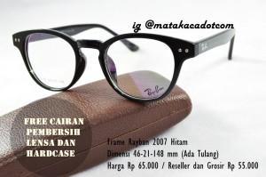 Frame Kacamata Rayban minus/plus/ silinder 2007 Hitam