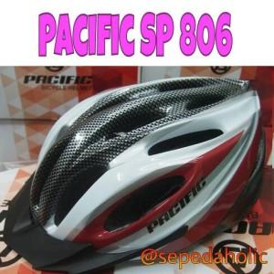 Helm sepeda Pacific SP 806 merah maroon