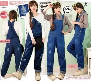 harga Celana monyet jeans wanita jumpsuit overall wearpack blue denim Calant Tokopedia.com