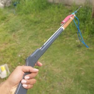 harga speargun panah ikan handmade 80 cm karet pipih Tokopedia.com