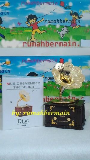 Kotak Musik Unik Bentuk Gramaphone - Gramophone Music Box Klasik