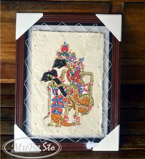 Lukisan Wayang Rama dan Sinta, Kisah Ramayana, Kualitas Terjamin Murah