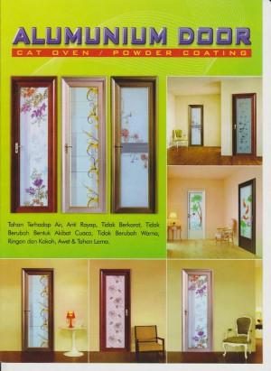 pintu aluminium kamar mandi / kamar merk diamond