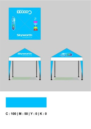 Daun Atap Tenda Cafe / Tenda piramid / Tenda julan / tenda kerucut