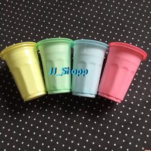 harga Gelas Plastik Warna / Gelas Plastik / Gelas Warna / Gelas warna doff Tokopedia.com