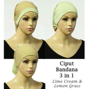 Hijab Pashmina Katun Rawis Get 3 Pcs (Warna Mix). Source · Ciput Bandana