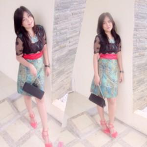harga Dress Brokat Batik / baju batik brokat / Baju pesta / Kebaya modern Tokopedia.com