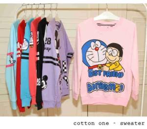 Sweater Doraemon and Nobita Pink