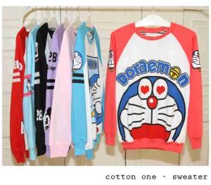 Sweater Doraemon Love Eyes