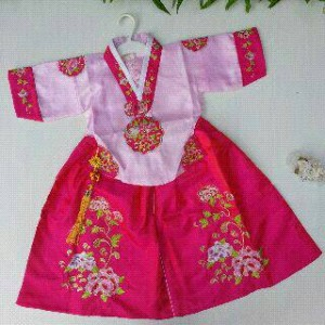 hanbok  dress baju korea tradisional anak