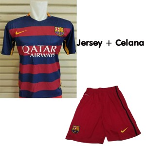 harga Jersey dan Celana Barcelona Home 15/16 Grade Ori Tokopedia.com