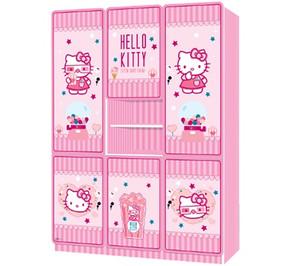 Lemari Pakaian 6 Pintu Hello Kitty Cutton Candy