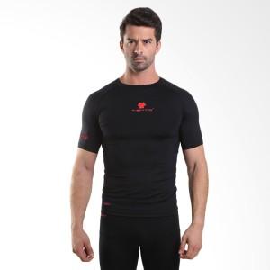 harga Rash Guard Compression Daleman Tiento Short Sleeve Black Red Original Tokopedia.com