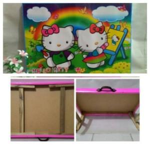 Meja lipat anak / meja belajar anak / meja anak kayu