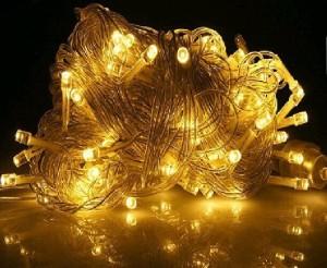 Lampu Natal Hias Gantung Crystal Warm White