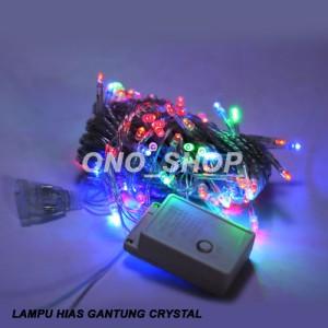 Lampu Natal Hias Gantung Crystal