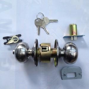 Kunci Bulat Kamar Mandi / Kunci Bulat WC Pintu PVC HIGH QUALITY TEBAL