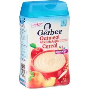 GERBER Oatmeal Cereal Peach Apple - Bubur Bayi MPASI