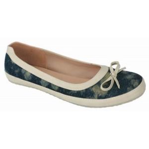 Sepatu Flat Shoes Wanita   Bahan Denim   Biru - Catenzo