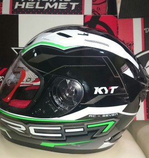 Helm KYT RC Seven / RC7 / RC 7 #14 Hijau