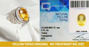 Batu yellow topaz no treatment ring silver memo