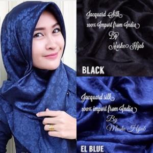 Jilbab Jacquard Silk Segiempat