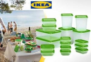 Ikea Pruta 17pcs Container Food Tempat Penyimpanan Makanan