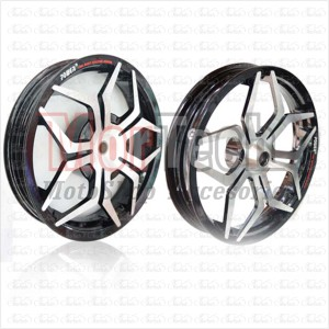 Velg Racing Lebar Power Vario 125 Palang 5 Star Spider Hitam Chrome