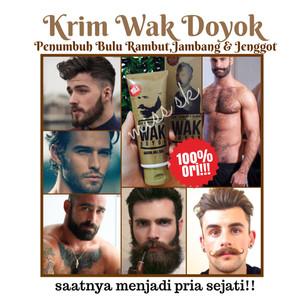 Wak Doyok Krim penumbuh Jambang , Alis , rambut dan kumis herbal ori