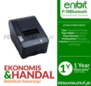 Printer Kasir Enibit P58B Thermal Pos Receipt 58mm USB+Bluetooth
