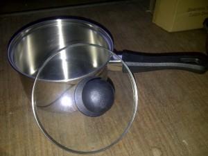 Sauce Pan Stainless Steel - Panci Gagang 15cm tutup kaca