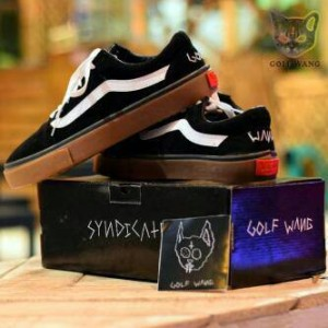 Sepatu Vans Golf Wang Black Sol Gum IFC Cowok Keren Full black