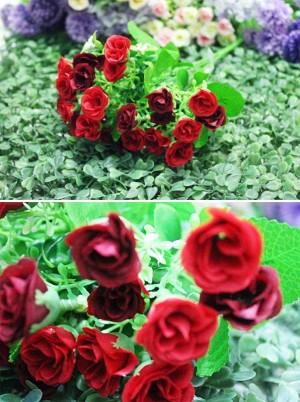 bunga artificial rose ros bunga plastik ross red merah shabby chic