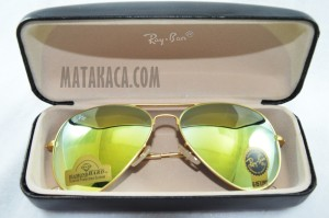 Kacamata 3026 Sunglasses Unisex Rayban Diamond Hijau List Gold