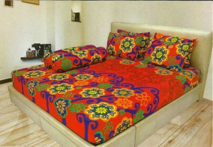 SPREI LADY ROSE 180 KINGS Size – MURAH Motif RED SAPHIRE