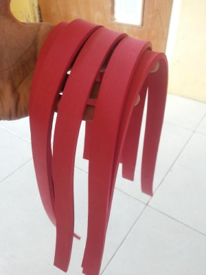 Karet pipih panah ikan/speargun panjang 50 cm