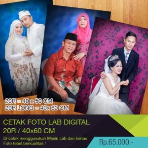 cetak foto/photo 20R & 40 x 60 cm dengan mesin lab digital printing