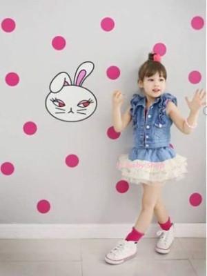 DRA Dress Anak pesta setelan korea jeans rok