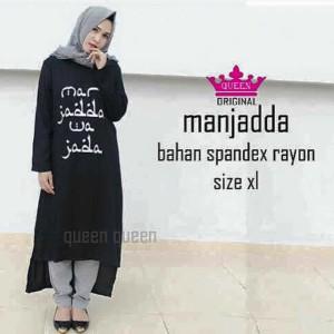 harga Manjada black long dres Tokopedia.com