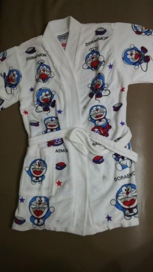 harga kimono baju handuk anak putih sablon doraemon Tokopedia.com