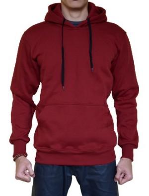 Jual Sweater Polos Hoodie Jumper Warna Merah Marun/Maroon ...
