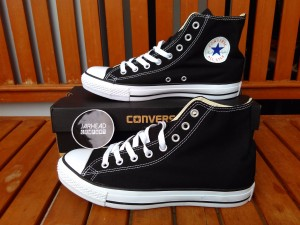 Sepatu Converse All Star (High) Black White Original