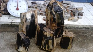 Bahan batu akik Black opal Asli Banten