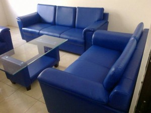 sofa emerald blue