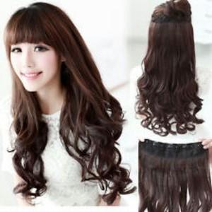 Jual Wig Hair Clip Extention Rambut Palsu Tambahan Sambung