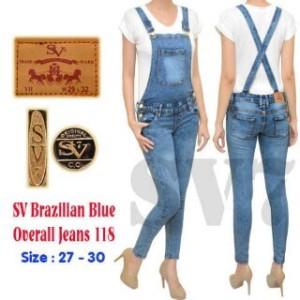 Baju Kodok Panjang Jumpsuit Sv Brazillian Blue Overall Jeans 118