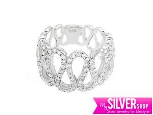 Cincin DUTCH LADY Silver 925  - Berlapis Emas Putih CCOF156