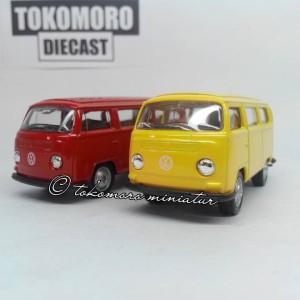 vw clasical bus t2 diecast miniatur mobil skala 60 tokomoro