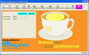 Lemon Tea Pos Profesional Full